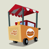 Hot dog design Royalty Free Stock Images
