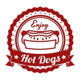 Hot dog design Stock Image