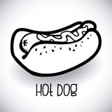 Hot dog design Royalty Free Stock Photography