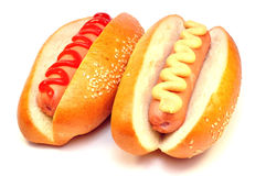 Hot-dog deux classique Image libre de droits