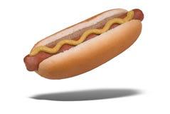 Hot dog di galleggiamento Fotografia Stock Libera da Diritti
