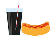 Hot dog and drink Royalty Free Stock Photography