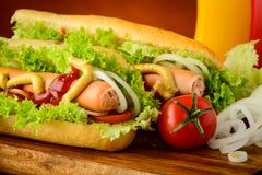 Hot dog e verdure Immagine Stock Libera da Diritti