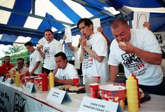 Hot Dog Eating Championship Royalty Free Stock Photography