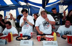 Hot Dog Eating Championship Royalty Free Stock Photo