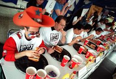 Hot Dog Eating Championship Stock Image