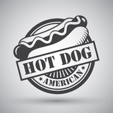 Hot dog emblem royalty free illustration