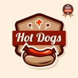 Hot dog emblem Stock Image