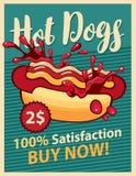 Hot-dog et ketchup Images libres de droits