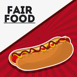 Hot dog fair food snack carnival icon. Hot dog fair food snack carnival festival icon Vector illustration royalty free illustration