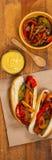 Hot Dog Fajita styl Fotografia Royalty Free