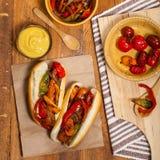 Hot Dog Fajita styl Obraz Royalty Free