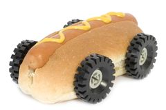 Hot Dog - Fast Food. Fast food - Hotdog with mustard - Fast food concept Royalty Free Stock Image