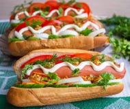 Hot Dog. Fast food Stock Photo