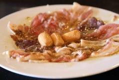 Hot dog and fresh meat set Royalty Free Stock Image