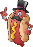 Hot Dog Gentleman Cartoon Character Royalty Free Stock Image