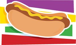 Hot Dog Graphic Royalty Free Stock Images