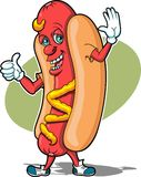 Hot Dog Guy. This is an image of a Hot Dog Ready to Eat Stock Photography