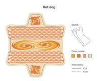 Hot dog holder Royalty Free Stock Images