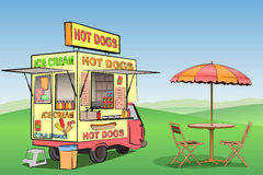 Hot Dog, Ice Cream Royalty Free Stock Photos