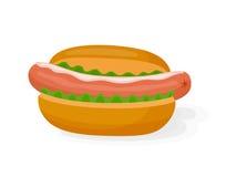 Hot dog icon Stock Images