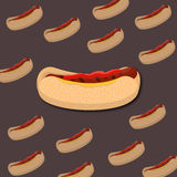 Hot dog icon Royalty Free Stock Photos