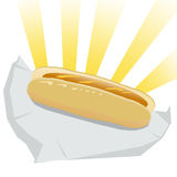 Hot Dog illustration Royalty Free Stock Photo