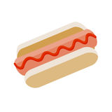 Hot-dog, illustration d'icône de vecteur sur le fond blanc illustration de vecteur