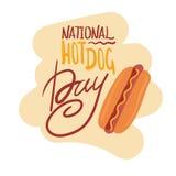 Hot dog. Illustration for the National Hot Dog Day vector illustration