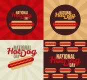 Hot dog. Illustration for the National Hot Dog Day stock illustration