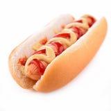 Hot dog isolato Fotografia Stock Libera da Diritti