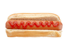 Hot dog with ketchup Royalty Free Stock Images