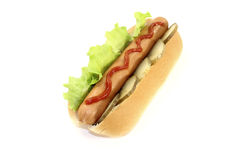 Hot dog with ketchup Stock Photography