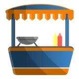 Hot dog kioska ikona, kreskówka styl royalty ilustracja