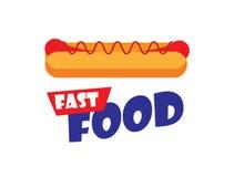 Hot dog logo Zdjęcia Stock