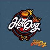 Hot dog logo Zdjęcie Royalty Free