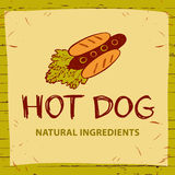 Hot dog logo for eco natural product. Royalty Free Stock Image