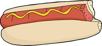 Hot-dog mordu Image libre de droits