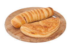 Hot dog num with pizza pastry Royalty Free Stock Photo
