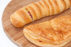 Hot dog num with pizza pastry Royalty Free Stock Photos