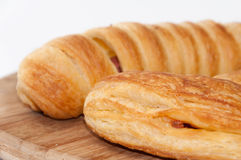 Hot dog num with pizza pastry Royalty Free Stock Images