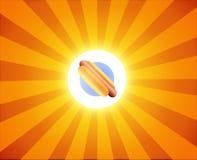 Hot Dog on orange background Stock Images