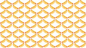 Hot dog pattern .Texture on white background vector illustration