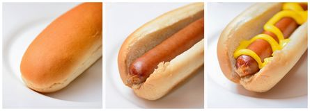 Hot dog photo collage Stock Photo