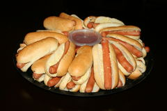 Hot Dog platter Royalty Free Stock Image