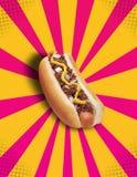 Hot dog POP dei peperoncini rossi! Fotografie Stock Libere da Diritti