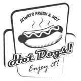 Hot dog poster Stock Image
