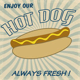 Hot dog poster Royalty Free Stock Images