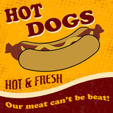 Hot dog poster Royalty Free Stock Image