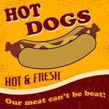 Hot dog poster vector illustration